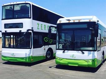 GreenPower's EV550 Double-Decker Bus and EV350 40-Foot Bus.