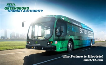 The environmentally friendly 40-foot Proterra buses are powered by under-floor batteries, capable of providing up to 175 to 200 miles of transportation service before charging.