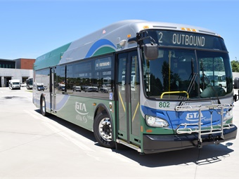 Starting November 2018, electric Proterra buses will replace vehicles in the 43-bus fleet.