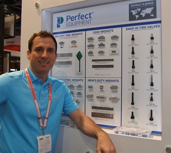 Gregory Parker has been promoted to national account sales and marketing director for Wegmann's North America business. He is pictured at the 2016 Specialty Equipment Market Association Show.