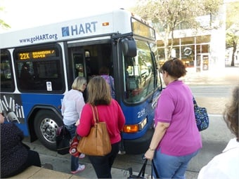 This innovative partnership between HART and a local transportation company provides rides to local bus stations within a three-mile radius. Photo: HART