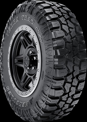 Hercules' new Terra Trac M/T is available in 21 sizes in 15- to 20-inch wheel diameters.