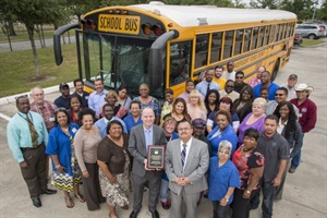 The transportation department at Houston Independent School District earned a special recognition award from the Council of the Great City Schools.