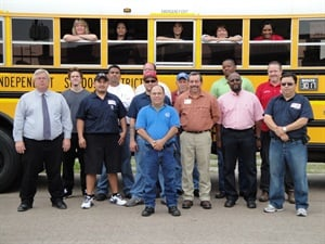 The Houston Independent School District (HISD) won the National Association of Fleet Administrators Excellence in Public Fleet Sustainability award for 2013. Pictured here is the HISD fleet support group. Photo courtesy HISD.