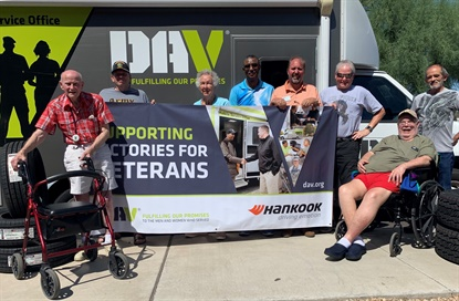 Hankook and its dealers, partnering with Disabled American Veterans, helped more than 1,000 veterans in 2019.