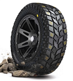 Hankook's partnership with Vibram has resulted in concept off-road tires as well as Vibram footwear featuring tire concepts.