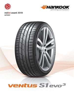 Hankook has been honored as the winner of Product Design at Red Dot 2019 for its new UHP flagship tire, Ventus S1 evo3.