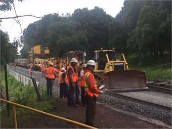Track construction machine in action in Berlin, Conn. (July 2017) Photo: CTDOT
