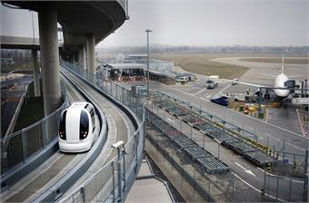 Heathrow Airport PRT system photo by Lee Durant.