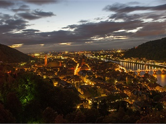 The author's first trip on intercity coach was a trip from Stuttgart to Heidelberg (pictured above).MyPentaxK200d