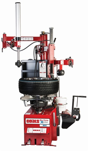 Features of the Coats 80X Rim Clamp tire changer from Hennessy include a patented Robo-Arm helper device to assist in efficiently changing low-profile and run-flat tires.