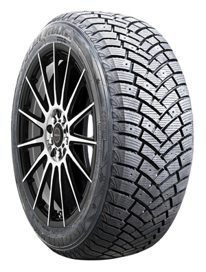 The center rib of the studdable Ironman Polar Trax WPS winter tire features dense siping for added traction.