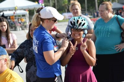 The back-to-school bash included a bike/pedestrian safety rodeo.