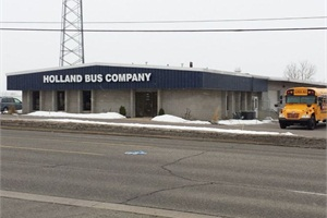 Holland Bus Co. now features over 9,000 square feet of service space, including six new service bays dedicated to school buses, 8,000 square feet for body repairs, 5,000 square feet of parts inventory and 3,000 square feet dedicated to sales support.