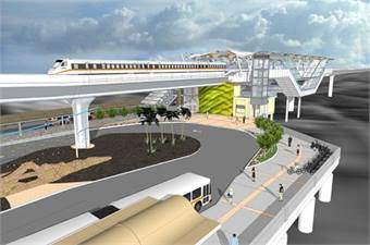 Honolulu Rail Transit Project Pearl Highlands Station rendering courtesy HART