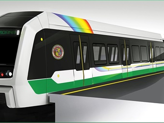 HART railcar rendering.