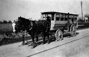 For a special series that will run in 2006, SCHOOL BUS FLEET is looking for historical photos — like this one — of school buses of the past (horses not required).