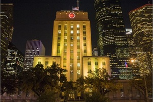 In Houston, the office of Mayor Annise D. Parker recognized the transportation department staff at Houston Independent School District by lighting City Hall in yellow for six days.