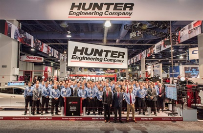 Hunter Engineering was named the 2019 SEMA Manufacturer of the Year.