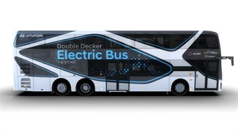 Hyundai's double-decker electric bus is 42 feet long and can accommodate up to 70 passengers.