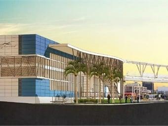 A rendering of the Jacksonville Regional Transportation Center. JTA
