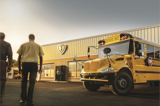 """IC Busnamed the winners of its 2019 Dealer of the Year, Pursuit of Excellence, and Diamond Dealer awards. It also released """"Next Stop,"""" its podcast that covers school bus industry-related topics. Photo courtesy IC Bus"""