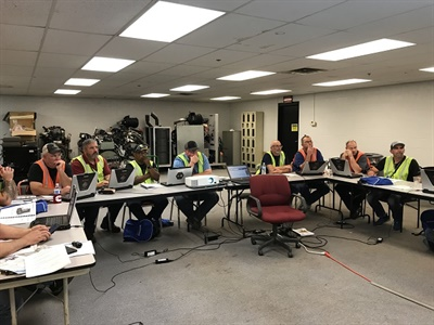 IC Bus recently completed the 12th edition of IC Bus University technician training at its bus plant in Tulsa, Okla. Photo courtesy IC Bus