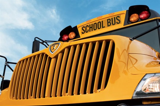 IC Bus will introduce a concept electric school bus at the NAPT 2017 trade show in Columbus, Ohio. Seen here is the manufacturer's CE Series school bus.