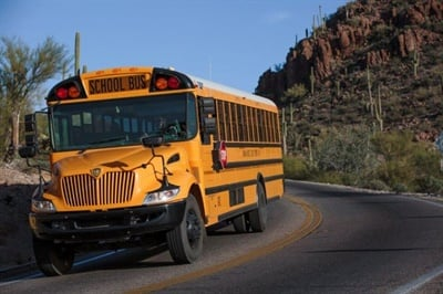 As Kingman Unified School District No. 20 students return to school, some ride buses without air-conditioning in 100-plus degree heat. About one-third of the district's buses don't have air conditioning. File photo