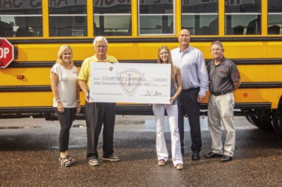 Courtney Campbell, who has a family member who works for Ward International Trucks, was one of the winners of the 2019 IC Bus Scholarships. Photo courtesy IC Bus