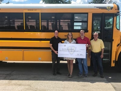 Alicia Baumann, who has a family member who works for Midwest Transit Equipment, was another scholarship winner. Photo courtesy IC Bus
