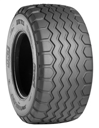BKT says a special tread compound gives the AW 711 radial implement tire an extended product life-cycle, whether it is used on soft or hard surfaces.