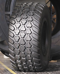Michelin says the steel-belted radial CargoxBibHD2 high flotation tire delivers high load capacities at high speeds.
