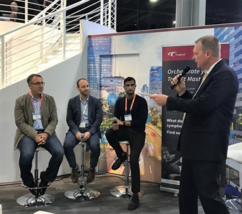 By collaborating, transit agencies using Trapeze's software will now be able to schedule rides on the Lyft platform in advance of the trip date. Reps from the two companies announced and discussed the partnership during the 2017 APTA Expo in Atlanta, Oct. 9-11. Photo: Michaela Kwoka-Coleman