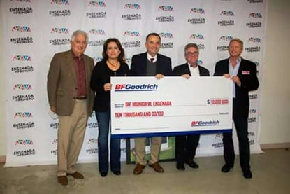 Michelin is donating $10,000 to help families in Mexico on behalf of its BFGoodrich Tire brand.