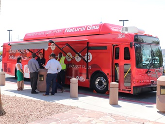 To reach residents, the On Board bus will travel the valley, attending various community events over the next 12 to 18 months. Photos courtesy RTC of Southern Nevada