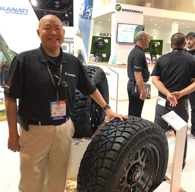 Greenball's Randy Tsai says the Kanati Armor Hog ATX's all-steel construction is the first of its kind for the light truck category.
