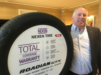 The new Roadian GTX all-season touring tire is expected to be a big hit for Nexen in 2020, says John Hagan, sales executive vice president.
