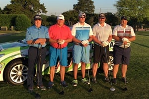 Some of the golfers who participated in the Interstate Batteries pro am event for active and retired military members.