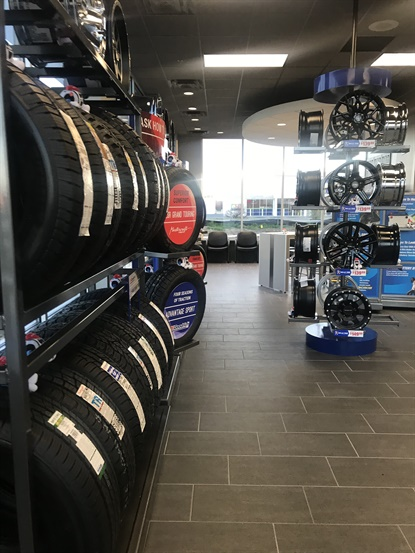 Belle Tire's new stores maintain the look and services the company offers at all of its locations. Stores stock tires and wheels, and offer auto service and glass repair.