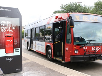 The interactive wayfinding and information system make it easy to navigate VIA service.VIA