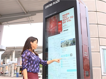 The digital kiosks connect residents and visitors to local businesses, entertainment, and resources and also facilitate navigation around the city.VIA