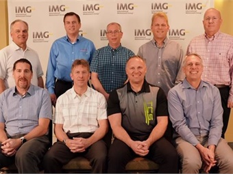 IMG's 2019 Board includes: (Back L to R) Real Boissonneault, John Adams, Dean Wright, Mike Dickson, and David Annett. (Front L to R) Dan Martin, Gary Krapf, Terry Fischer, and Bill Winkler (missing from photo Greg Gallup).