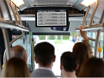 INIT's PIDvisio is designed to allow passengers to view next stop information, as well as transfers at their next stop and ticker-texts.