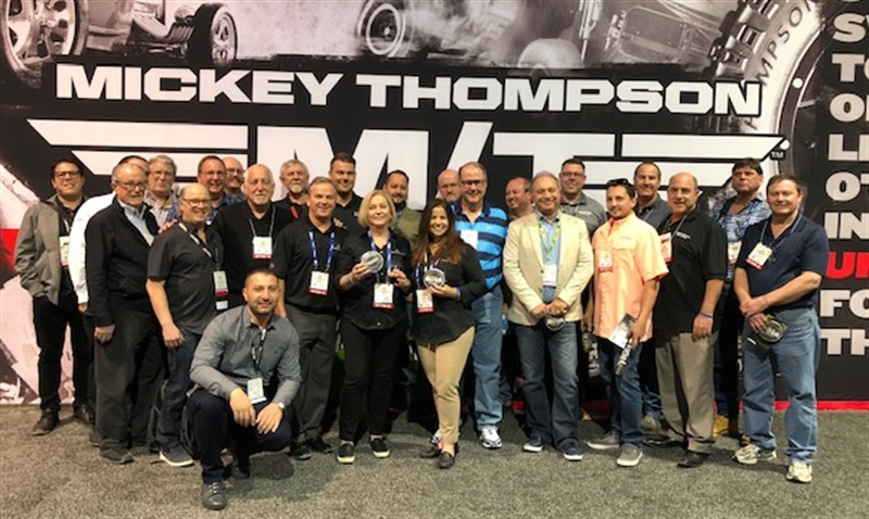 """""""We are very proud to have ITDG members come to this Mickey Thompson event, which shows the dedication and support of the entire group,"""" says ITDG President and CEO Dave Marks. The ITDG and Mickey Thompson celebrated their new partnership at the Mickey Thompson booth during the 2018 SEMA show."""