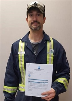 Ian Moulaison, a maintenance technician for Stock Transportation in Halifax, Nova Scotia, also earned the certification.