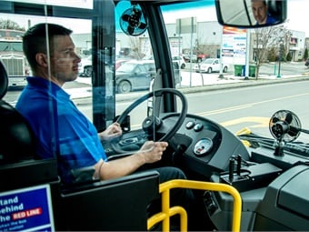 Among the new products being offered is an LFS driver barrier to provide operators with extra protection. Nova Bus