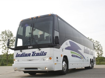The purchases included four new full-size coaches — all Prevost H3-45s — that can each carry up to 56 passengers.
