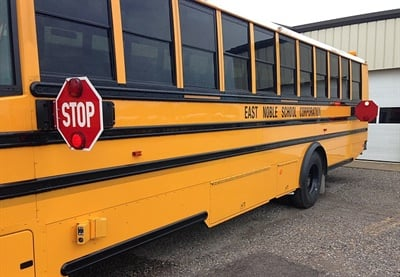 East Noble School Corp. received a grant from the Indiana Department of Homeland Security for windshield and exterior stop-arm cameras for all of its 55 school buses.