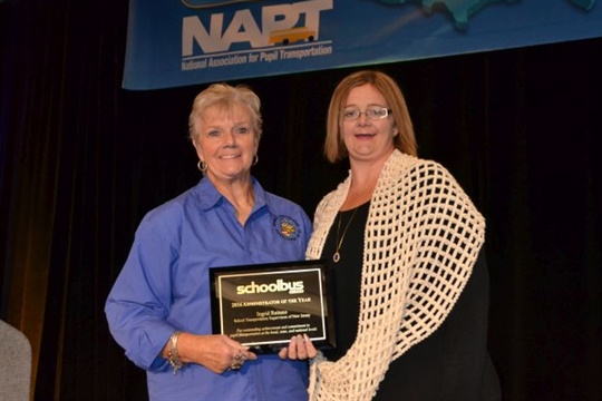 Ingrid Reitano (left) of New Jersey was named School Bus Fleet's 2016 Administrator of the Year. She is seen here with her daughter, Tracy Lynch.